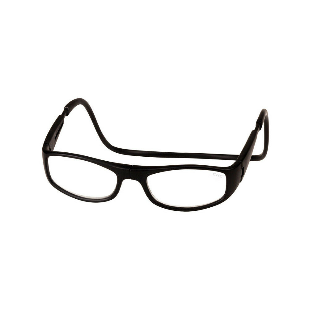 0f2991798f9 Clic Euro Matte Black Readers Front Connect Magnetic Reading Glasses