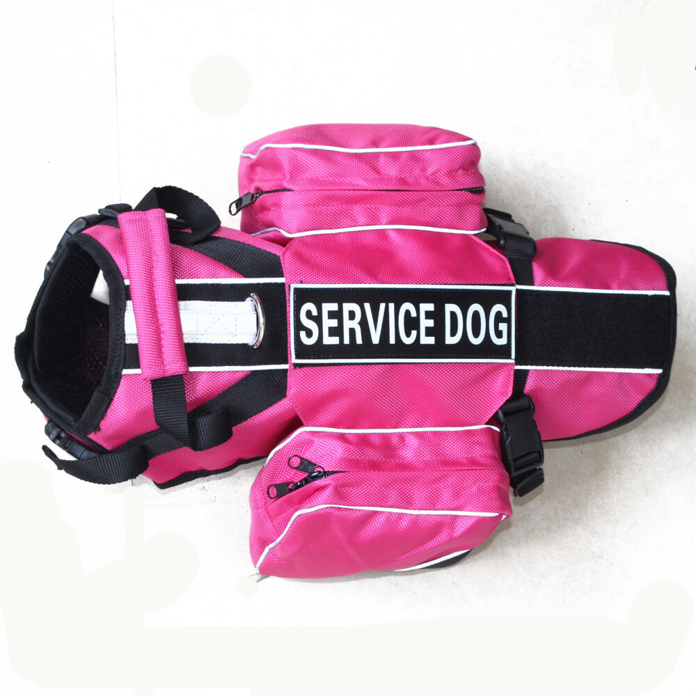 no pull harness service dog vest removable saddle bag dogs