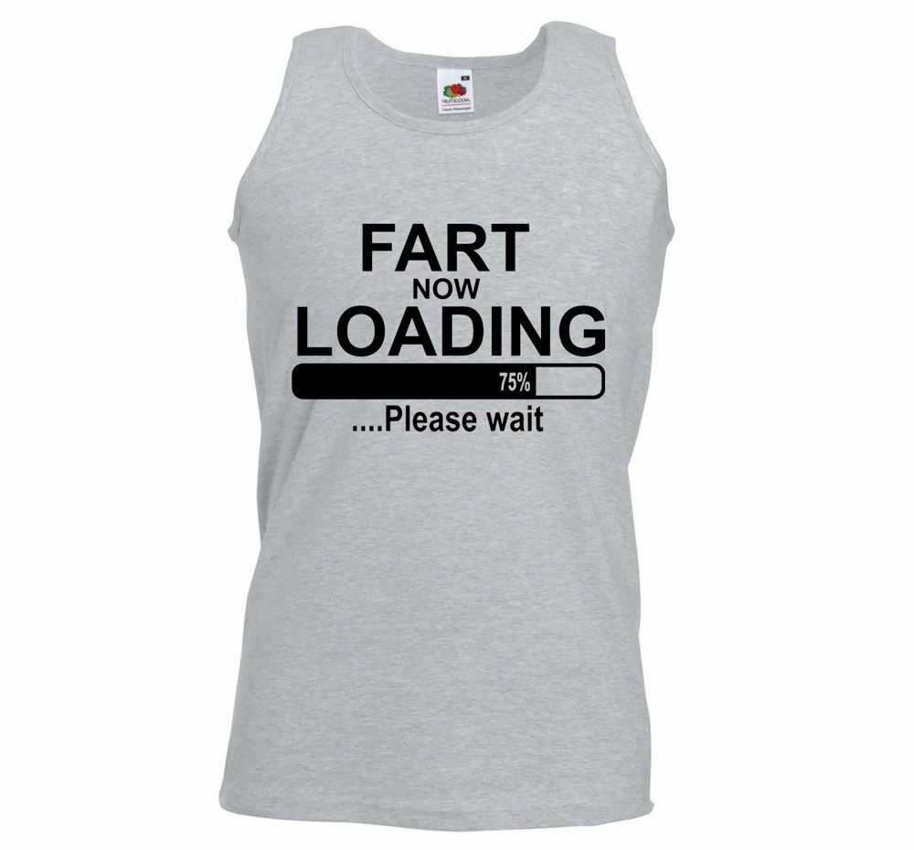 ea12b35eec0e94 Details about ALM786t-Mens Funny Sayings Slogans Vests-Fart Loading-Funny  athletic Vest
