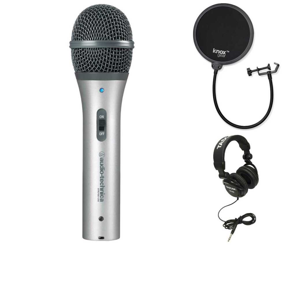 Audio Technica Atr2100 Usb Mic With Knox Pop Filter And