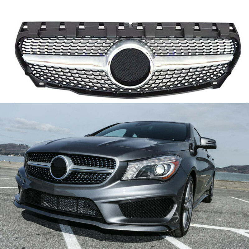 Front hood mesh grille star grill for mercedes benz w117 for Mercedes benz grille