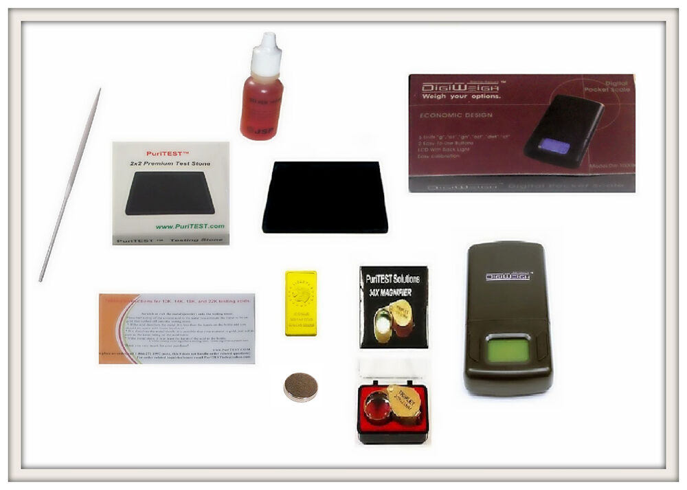 Silver Tester Electronic : Silver acid testing kit electronic tester scale digital