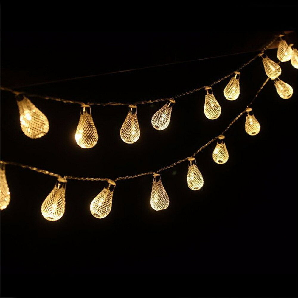 Galvanized Metal String Party Lights : 20-LED Metal Mesh Lantern String Fairy Light Colorful Lamp Wedding Party Decor eBay