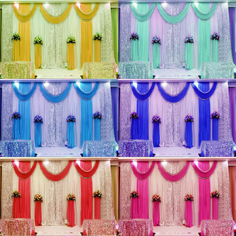 20ft pleated wedding backdrop curtain background for Background curtain decoration