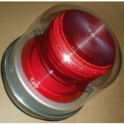ELECTRICAL INDUSTRIAL MACHINE WARNING BEACON FLASHING RED SWS I201B-120V-R NEW