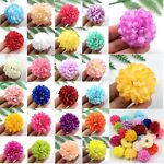 30-100 PCS Daisy Artificial Fake flower Silk Spherical Heads Bulk Wedding Decor