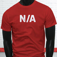 Answer Never Again Alcoholic N/A Sorry Come Back Later White Mens Red T-Shirt