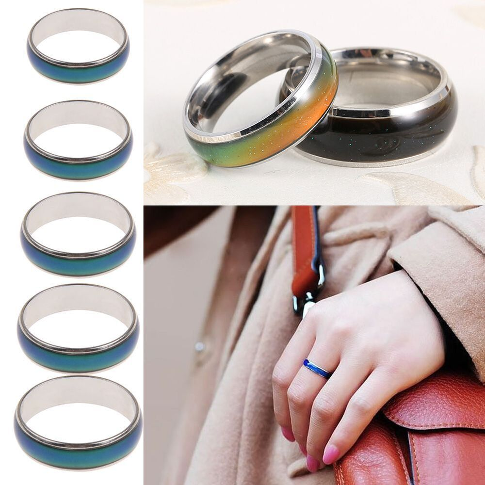 Kids Adult Stainless Steel Temperature Color Changing Mood ...