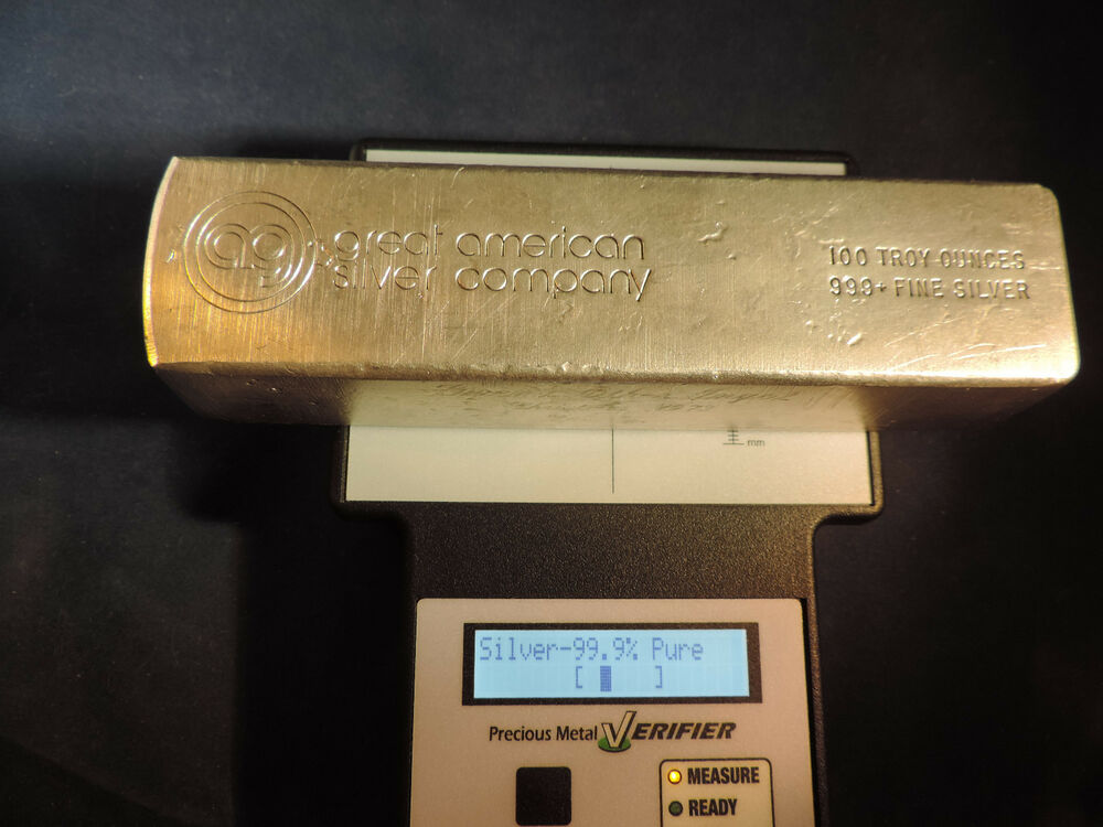 Great American Silver Co 100 Oz 999 Fine Silver Bar