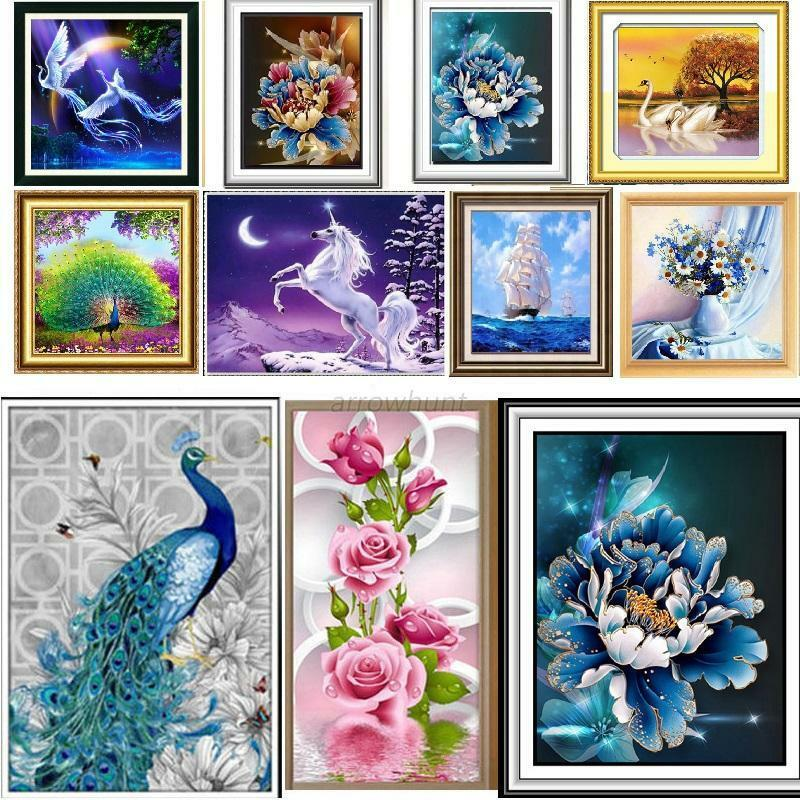39 Styles Diy 5d Diamond Embroidery Painting Wall Sticker