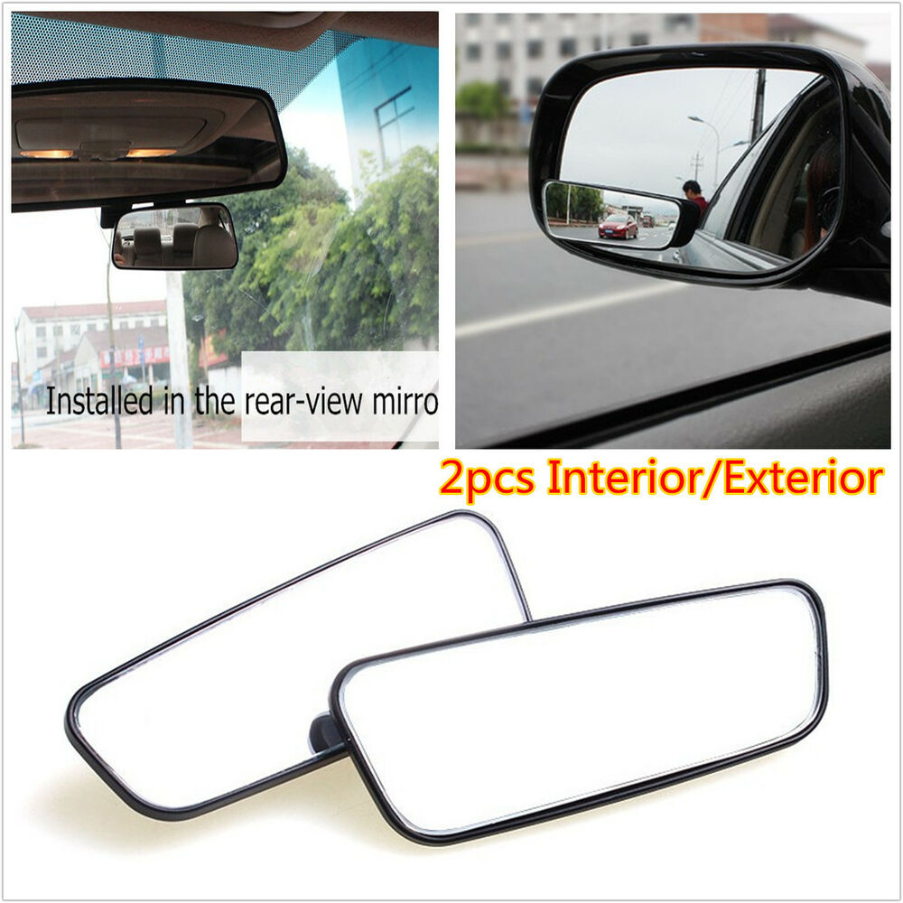car interior exterior auxiliary mirror hd side mirror rearview blind spot mirror ebay. Black Bedroom Furniture Sets. Home Design Ideas
