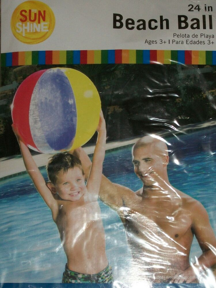 24 inflatable beach ball swimming pool park fun games party swim primary luau ebay for Primary games swimming pool sid