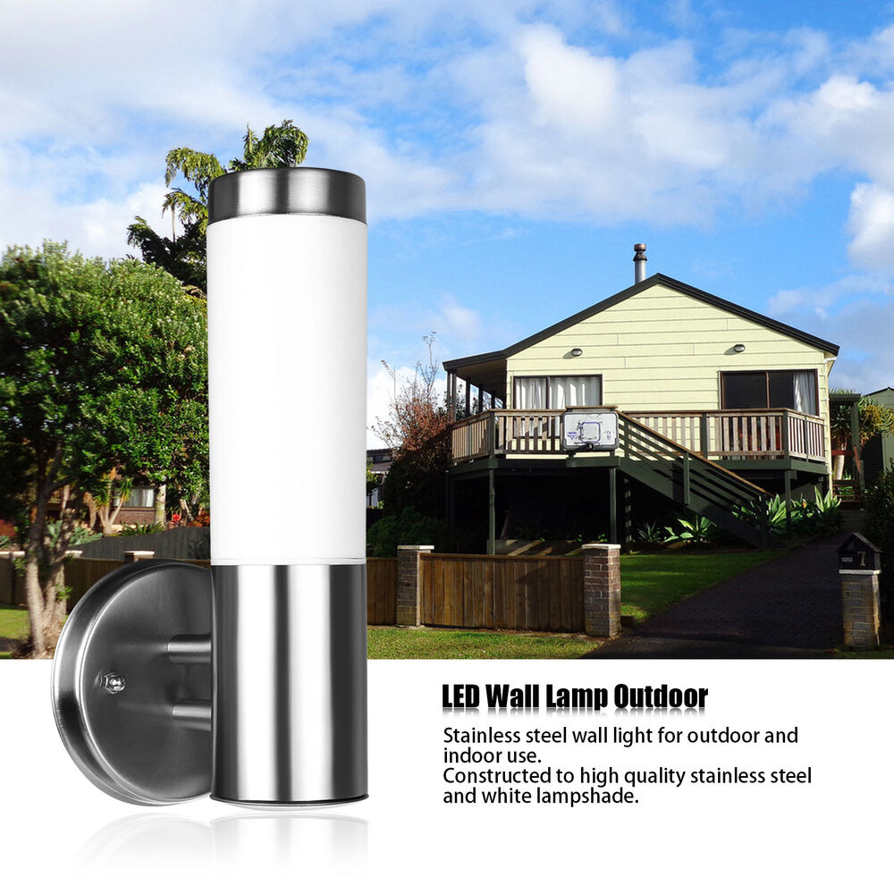 E27 25 LED Wall Light Lamp Sconce Stainless Steel Lighting