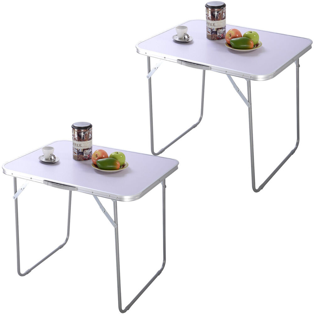 2pc portable folding table in outdoor picnic party dining for Outdoor side tables ikea