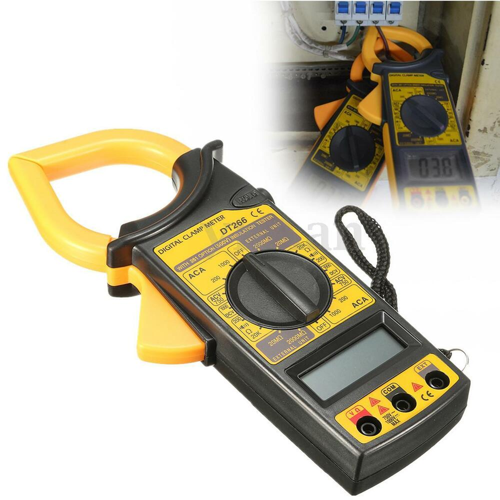 Digital Clamp Multimeter : Dt electronic lcd digital clamp meter multimeter ac dc