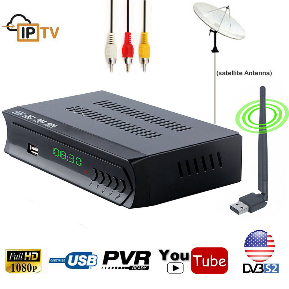 FTA DVB-S2 Digital Satellite Receiver Wifi Decoder + Iptv Combo 1G RAM USB PVR | eBay