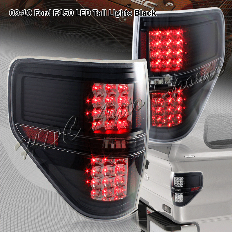 2009 2014 ford f150 pickup trucks led black housing clear lens tail. Black Bedroom Furniture Sets. Home Design Ideas