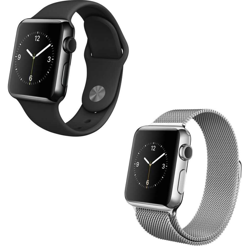 Apple watch 38mm stainless steel case with band options 1st generation ebay for Watches 38mm