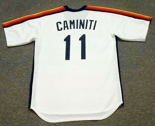 2476d272400d KEN CAMINITI Houston Astros 1988 Majestic Cooperstown Home Baseball Jersey