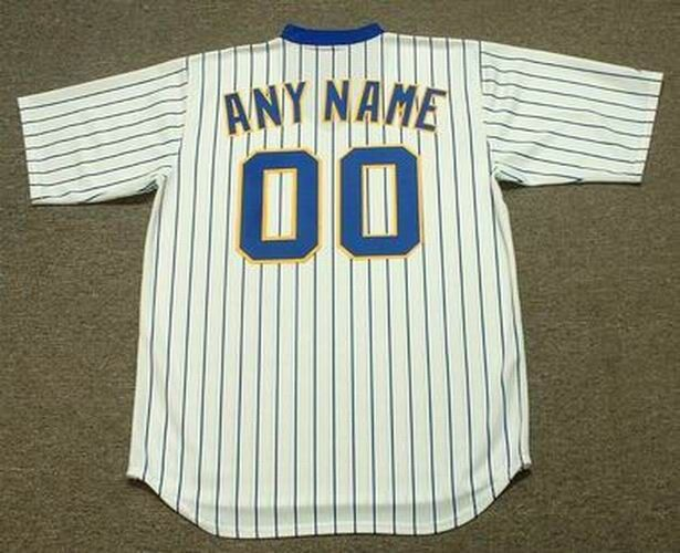 223a60b7508 MILWAUKEE BREWERS 1980's Majestic Cooperstown Home