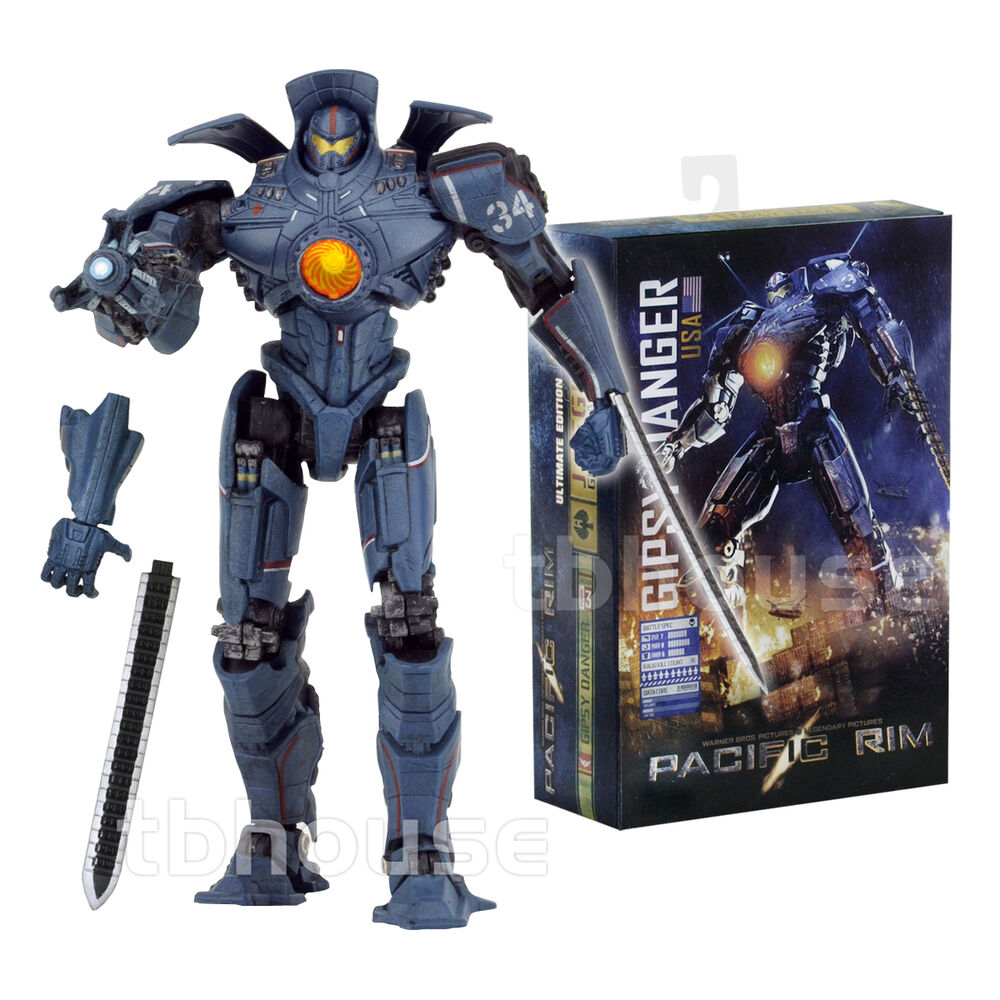 """7"""" GIPSY DANGER figure ULTIMATE EDITION light-up PACIFIC ... Pacific Rim Jaeger Gypsy Danger Toy"""