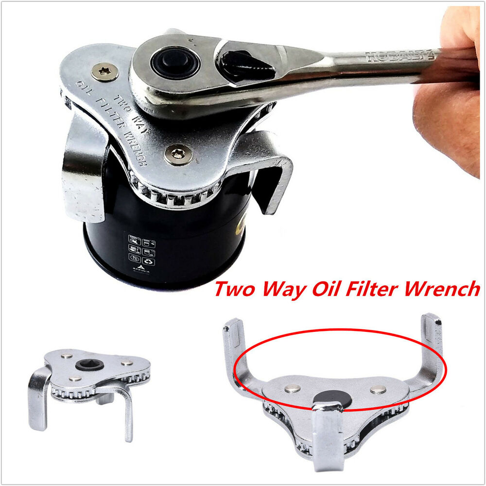 auto hand tool 3 jaw two ways oil filter wrench spanner. Black Bedroom Furniture Sets. Home Design Ideas