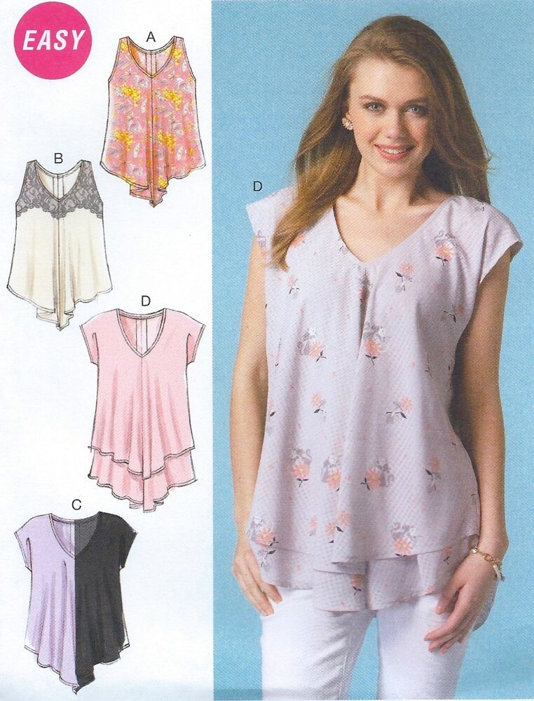 BRAND NEW! Miss Plus Size 16-26 Tops Easy Sewing Pattern ...
