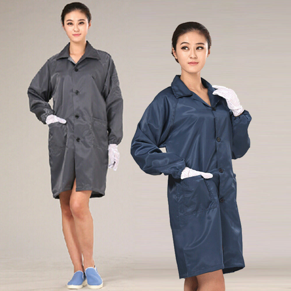 Unisex Esd Safe Econoshield Anti Static Lab Smock Clothes