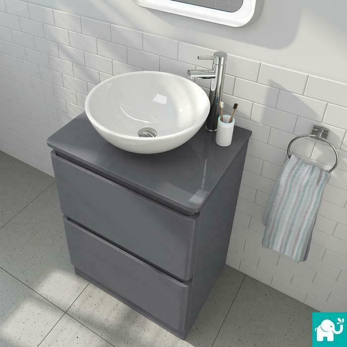 Modern Grey Bathroom Vanity Storage Unit Amp Countertop