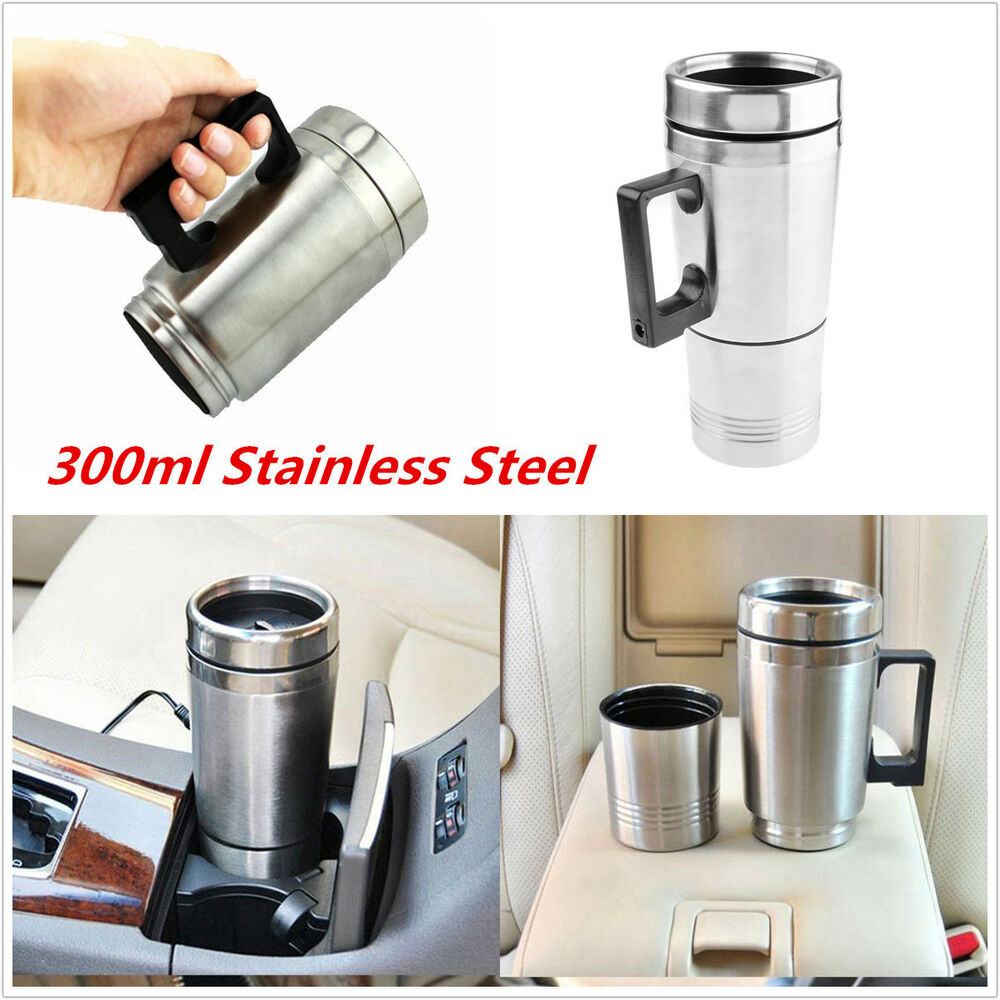 Portable Coffee Maker For The Car : Portable 12V Stainless Steel Car Coffee Maker Tea Pot Thermos Heating Bottle Cup eBay