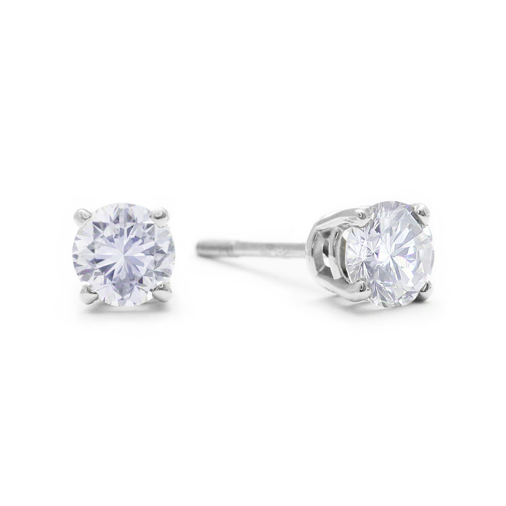 Visibly Imperfect 1/2 Carat Diamond Stud Earrings, 14K ...
