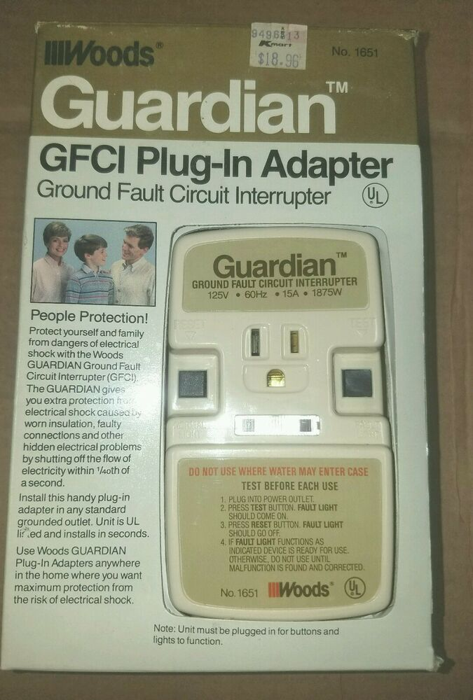 Woods Guardian Plug In Gfci Adapter Turn Any Outlet To A Gfci