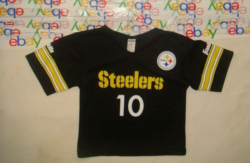 9b3edf50005 Details about TODDLER'S VINTAGE NFL PITTSBURGH STEELERS FRANKLIN SCREEN  PRINT JERSEY SMALL S