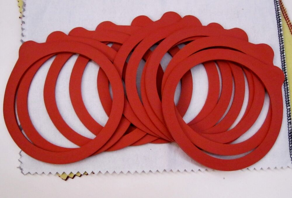 12 Pack Canning Jar Rubber Replacement Ring With Tab Red