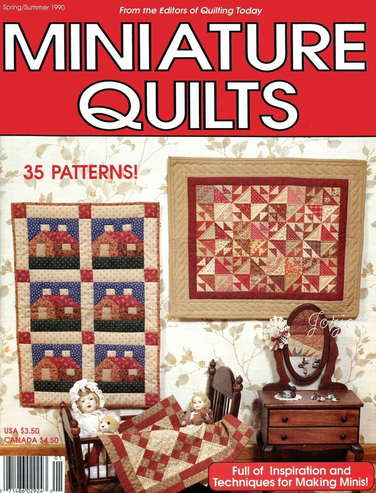 Miniature Quilts Quilting Today Spring/Summer 1990 ~ 35 miniature ... : quilting today magazine - Adamdwight.com
