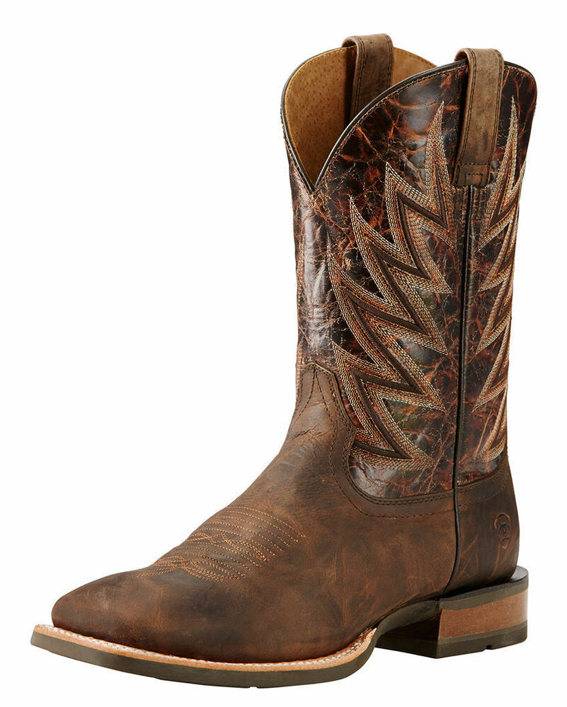 s ariat challenger square toe western boots 10018695