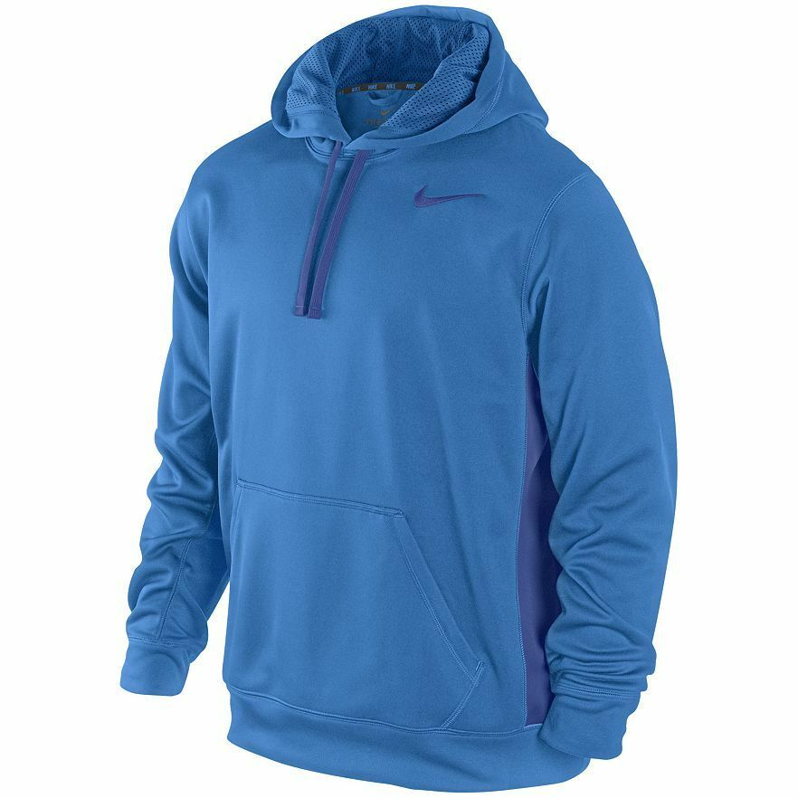 Nike 465784-407 Men's Therma-FIT KO Training Hoodie Royal ...