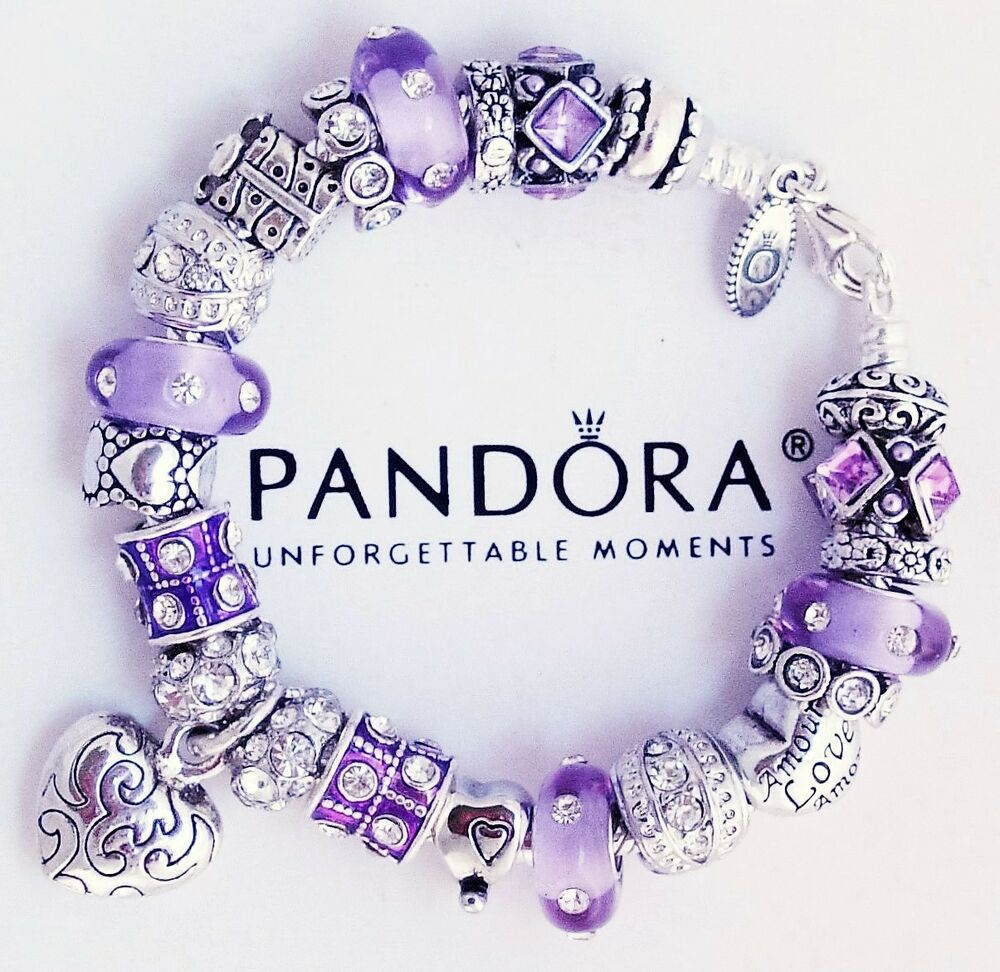 Pandora Charms For Bracelets: Authentic Pandora Sterling Silver Bracelet With Heart Love