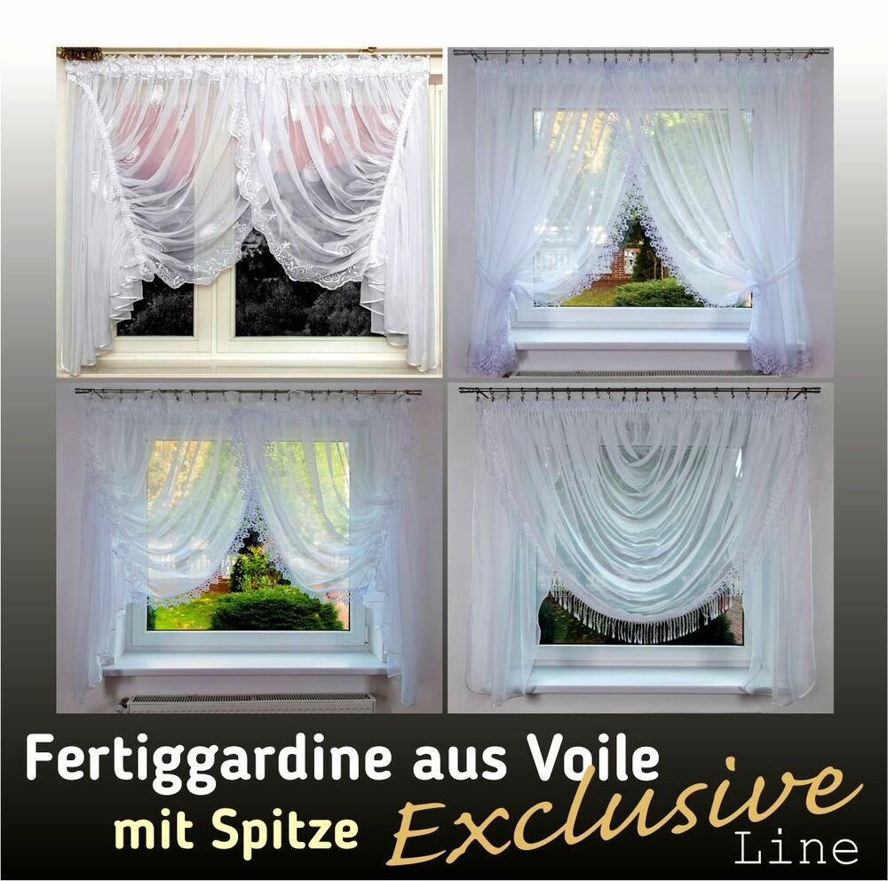 exklusive line bis 6 meter fertiggardine voile. Black Bedroom Furniture Sets. Home Design Ideas
