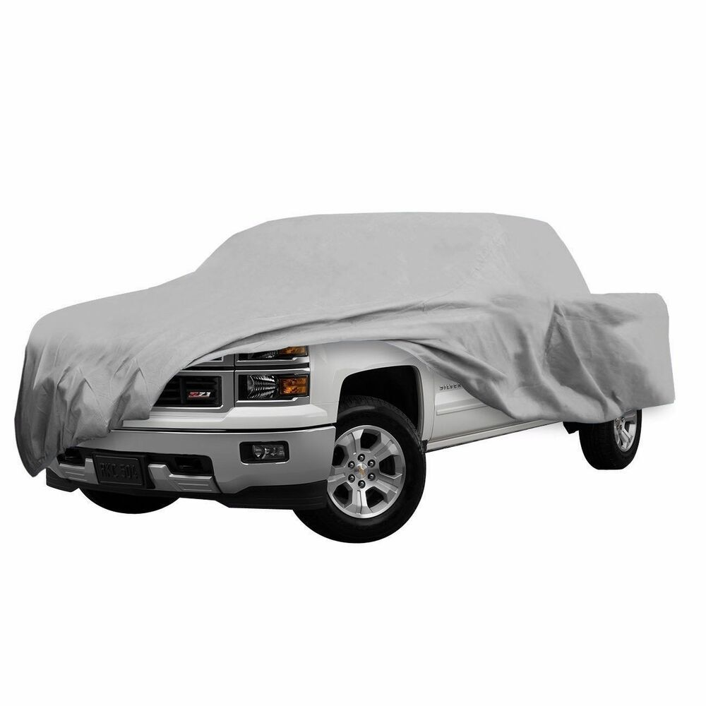 truck pickup car cover 3 layer outdoor rain dust snow sun dust scratch proof new ebay. Black Bedroom Furniture Sets. Home Design Ideas