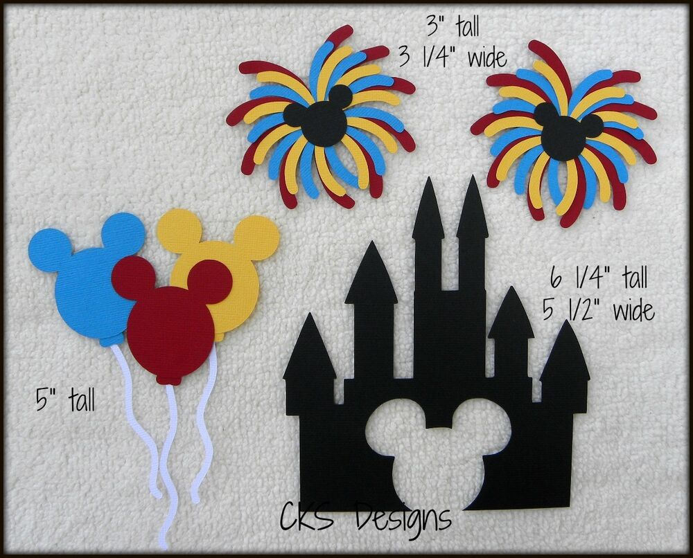 Die Cut Disney Magic Kingdom Castle Mickey Fireworks