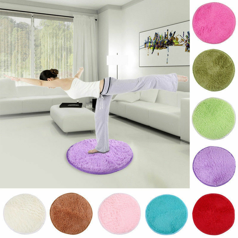 Home Decor Soft Bath Bedroom Floor Shower Rugs Yoga Plush Round Mat Rug Non Slip Ebay