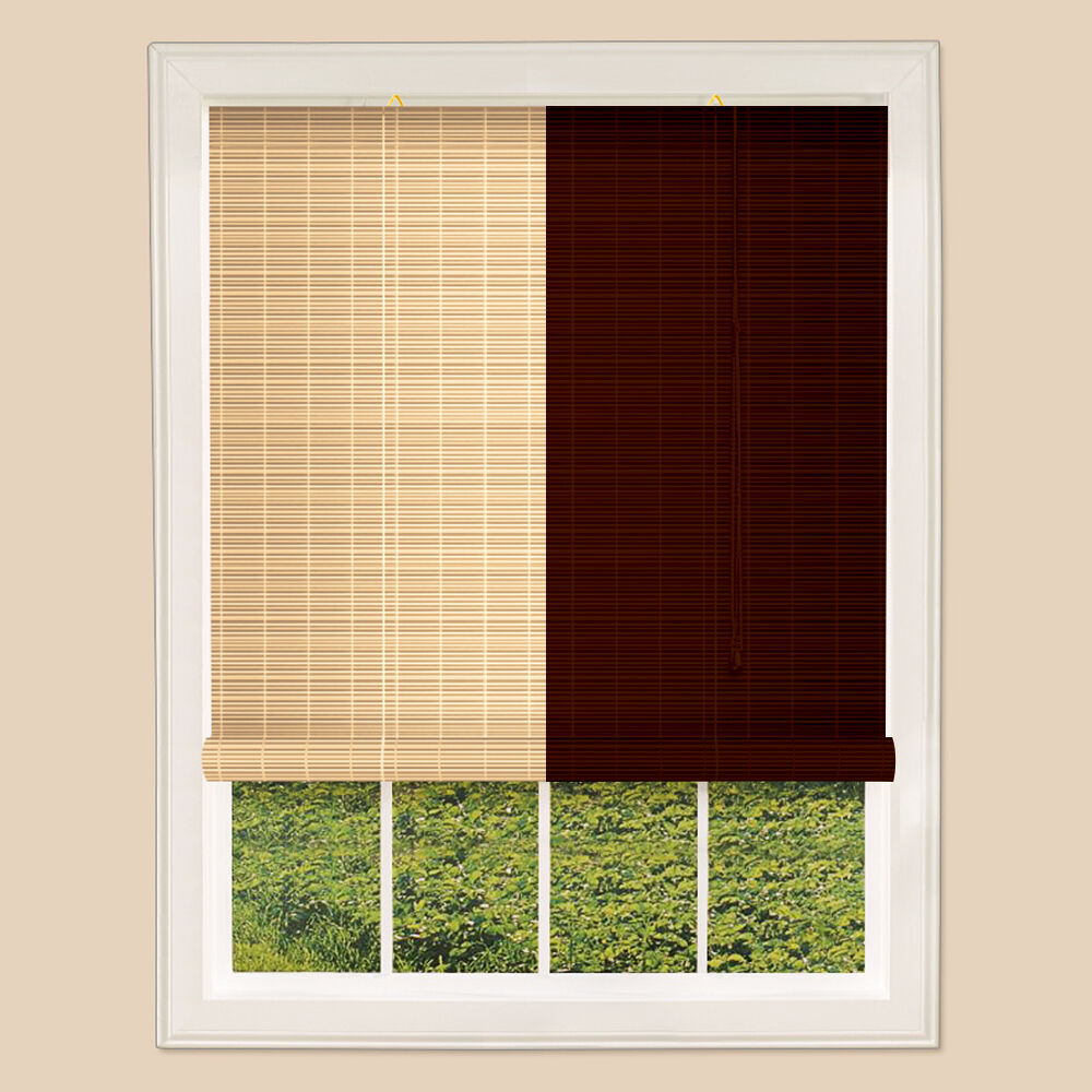 Real Bamboo Roll Up Blinds Brown Natural Many Sizes