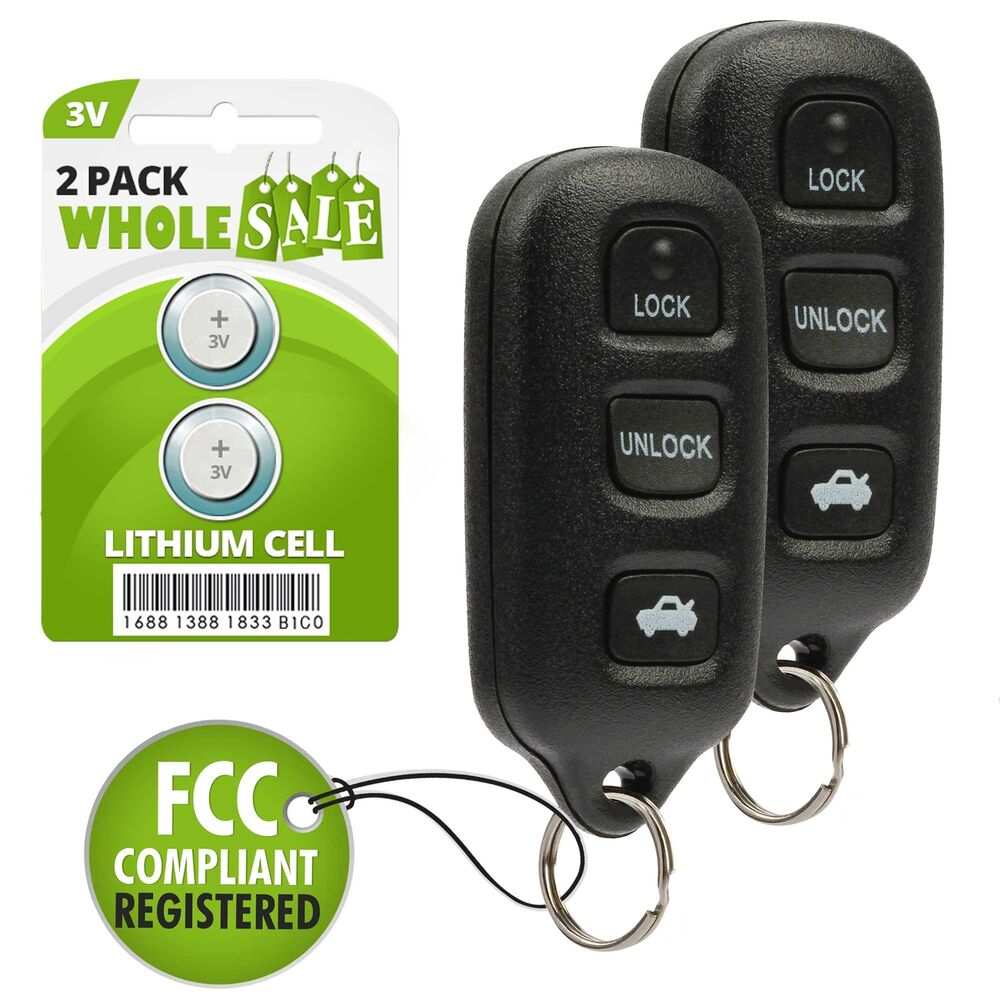 2 replacement for 2002 2003 2004 2005 2006 toyota camry key fob remote ebay. Black Bedroom Furniture Sets. Home Design Ideas