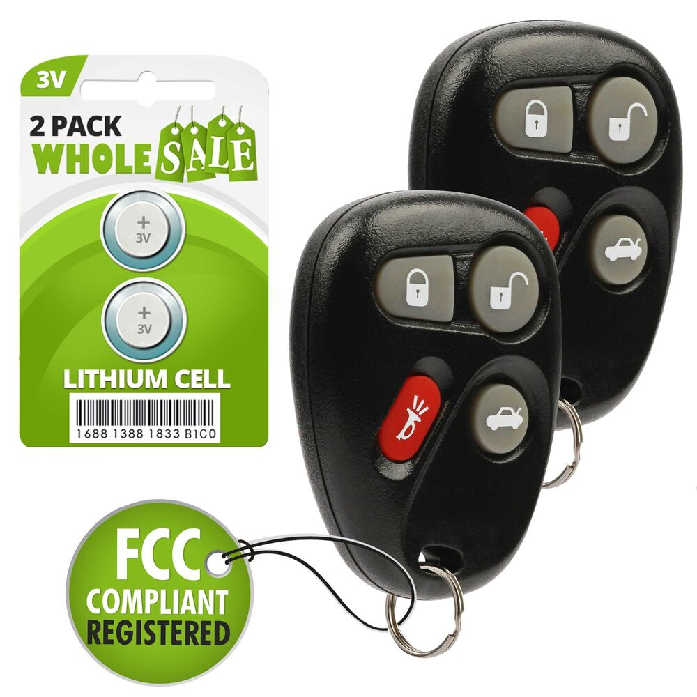 2 Replacement For 2004 2005 2006 Cadillac SRX Key Fob
