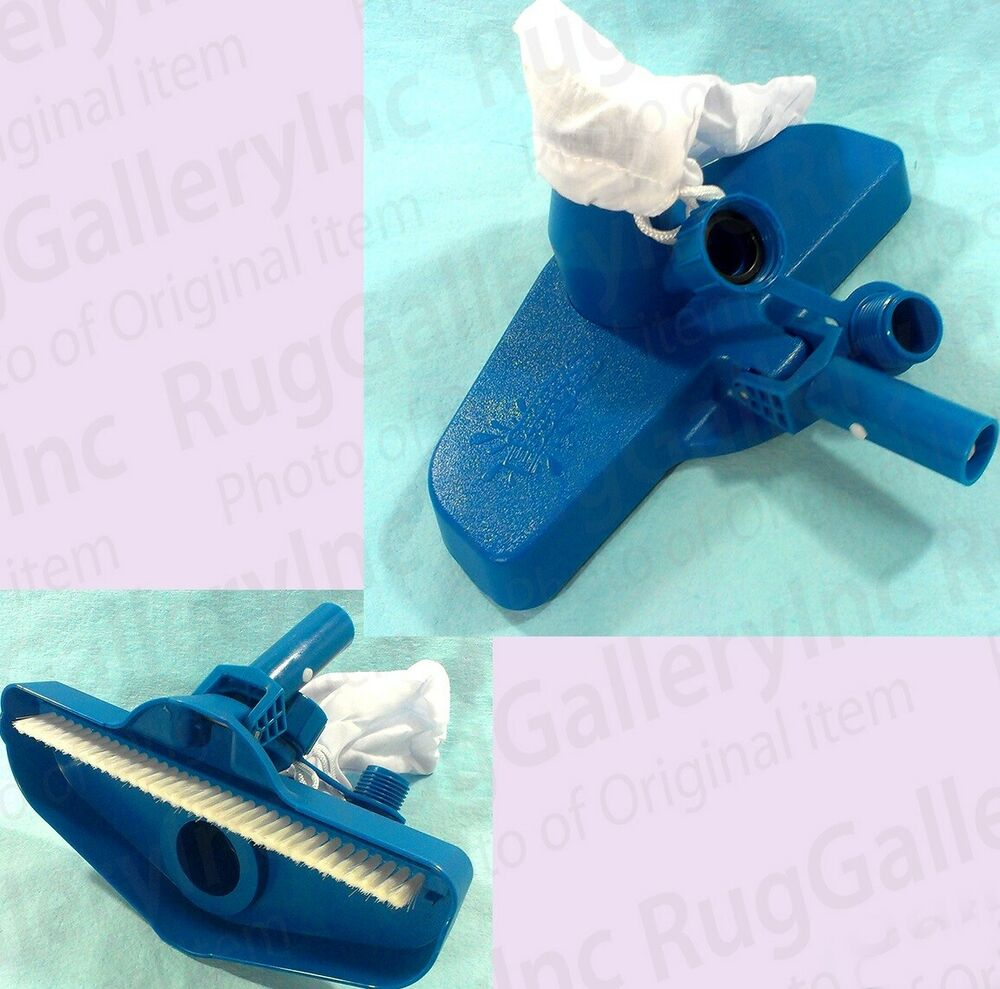 Swimming pool vacuum head hinge brush maintenance cleaning for Garden hose pool vacuum