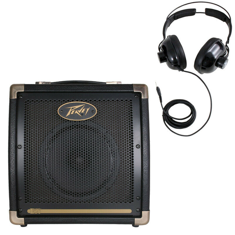 new peavey ecoustic e20 combo amp 20w acoustic 8 guitar amplifier headphones 14367137217 ebay. Black Bedroom Furniture Sets. Home Design Ideas