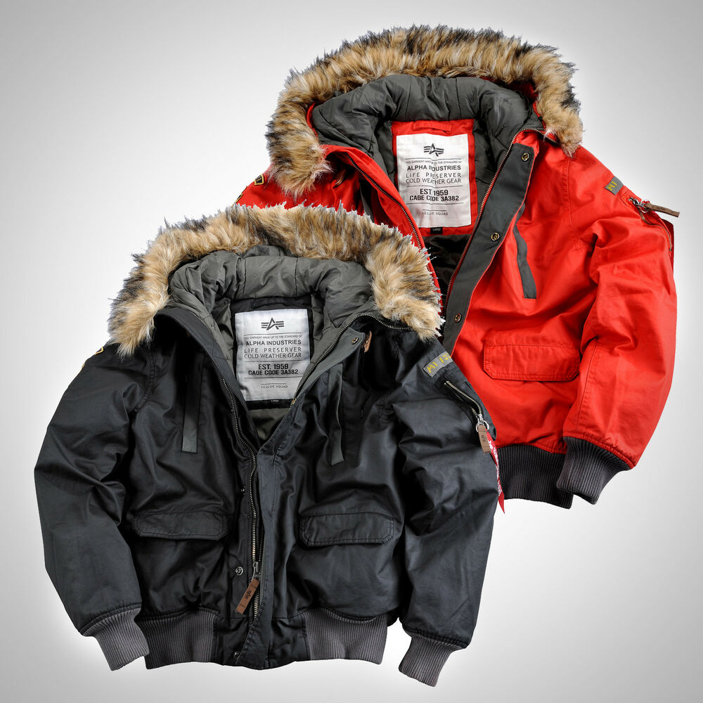 alpha industries warme winter herren jacke mountain jacket winterjacke parka ebay. Black Bedroom Furniture Sets. Home Design Ideas