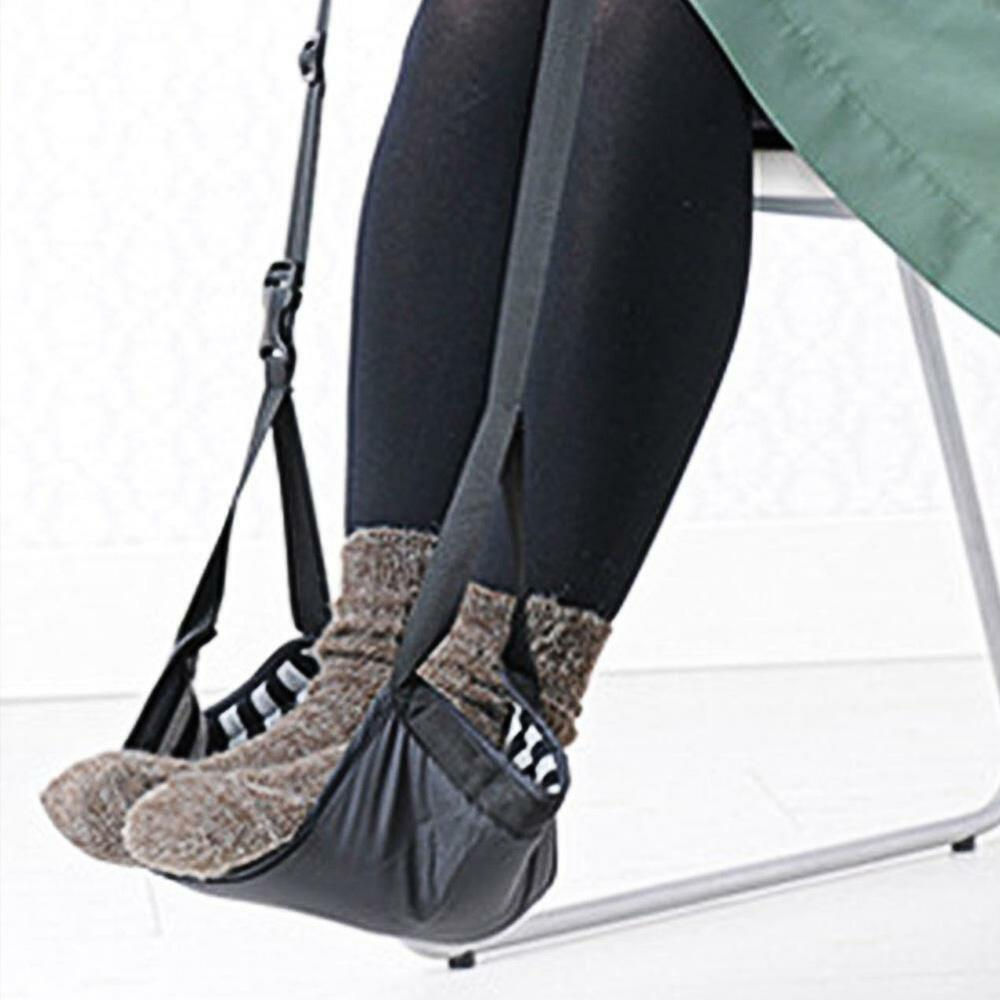 foot rest hammock under desk office footrest mini stand hanging swing ebay. Black Bedroom Furniture Sets. Home Design Ideas