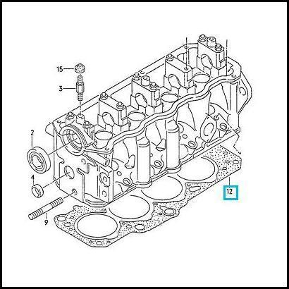 Genuine Vw T4 Transporter 1 9 Dtd Cylinder Head Gasket 2 Hole Vag